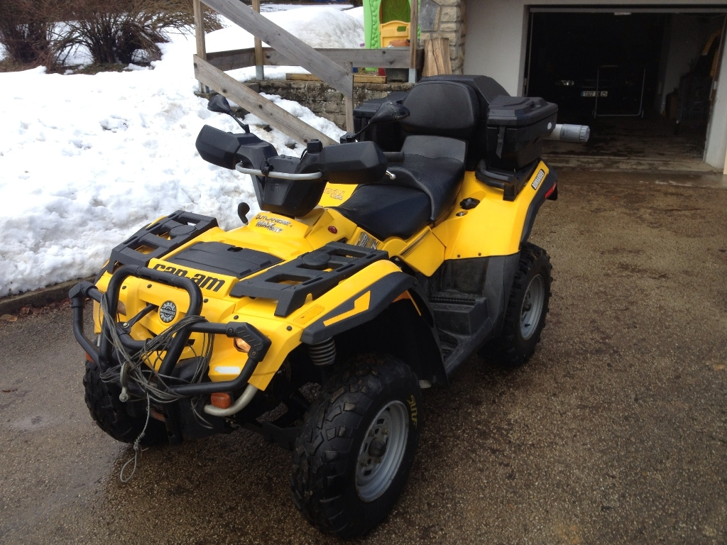 annonce quad can-am bombardier outlander 400 max xt occasion 2004 - 25 doubs