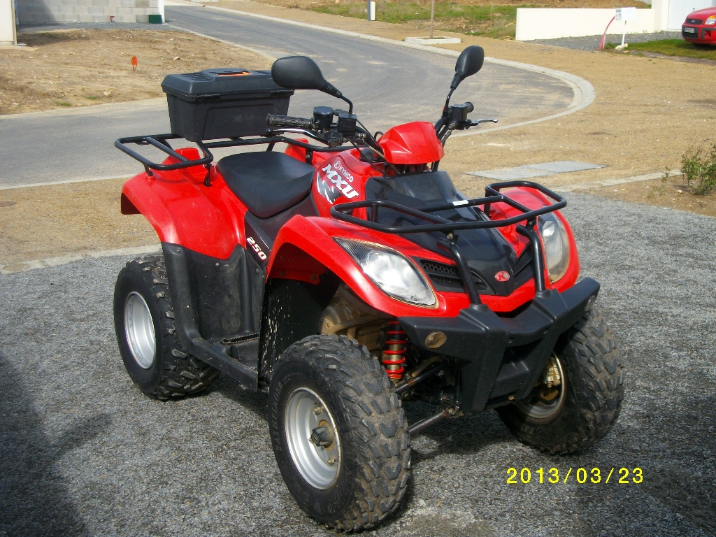 annonce quad kymco mxu 250 occasion 2008 85 vend e saint gervais. Black Bedroom Furniture Sets. Home Design Ideas
